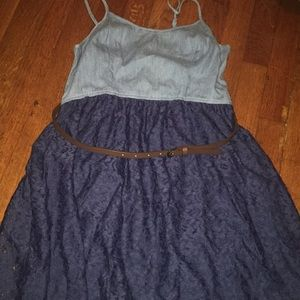 Iike new blue dress (Jean/lace material)
